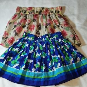 Two Floral Circle Skirts! EUC